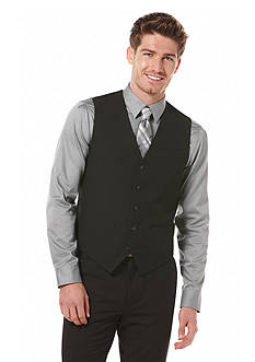 Perry Ellis Big & Tall Solid Suit Vest