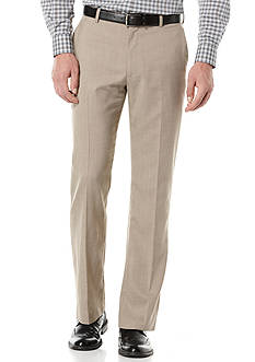 Perry Ellis Solid Texture Flat Front Suit Pants