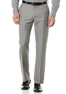Perry Ellis Big & Tall Solid Texture Flat Front Suit Pants