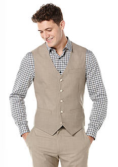 Perry Ellis Big & Tall Solid Texture Suit Vest
