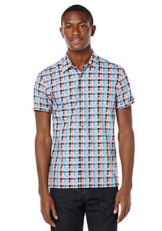 Perry Ellis Big & Tall Multi Color Check Pattern Shirt