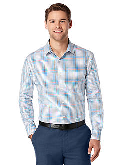 Perry Ellis Big & Tall Check Plaid Pattern Shirt