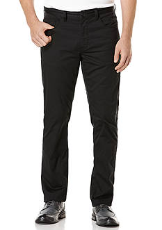 Perry Ellis Slim Fit Solid Sateen 5 Pocket Pants