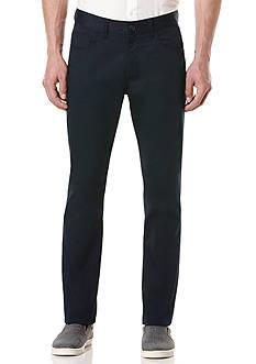 Perry Ellis Slim Fit Solid Sateen 5 Pocket Pants
