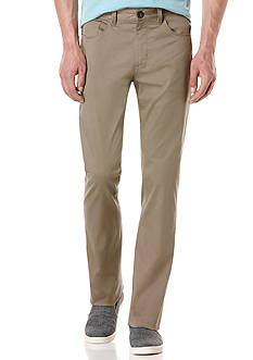 Perry Ellis Big & Tall Solid Sateen 5 Pocket Pants