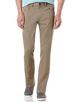 Perry Ellis Big & Tall Solid Sateen 5 Pocket Pants