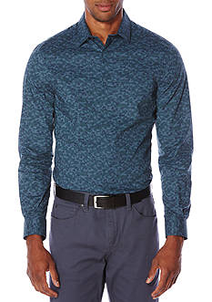 Perry Ellis Floating Leaves Print Shirt