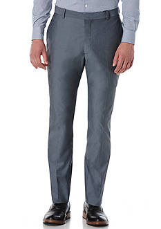 Perry Ellis Slim Fit Chambray Stretch Flat Front Pants