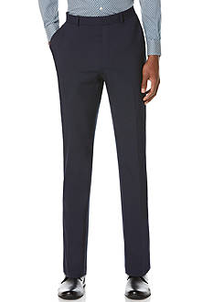 Perry Ellis Slim Fit Flat Front Tech Pants