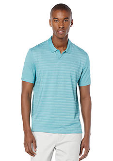 Perry Ellis Regular Fit Stripe Open Polo Shirt