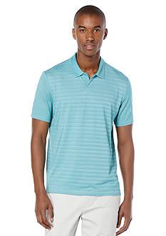 Perry Ellis Regualr Fit Stripe Open Polo Shirt