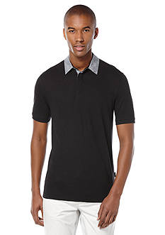 Perry Ellis Short Sleeve Linen Polo