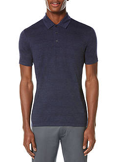 Perry Ellis Linen Blend 3 Button Polo Shirt