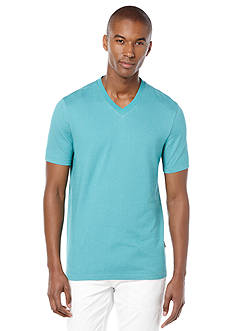 Perry Ellis Cotton Twill V-Neck Tee
