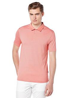 Perry Ellis Cotton Blend Fine Stripe Polo Shirt