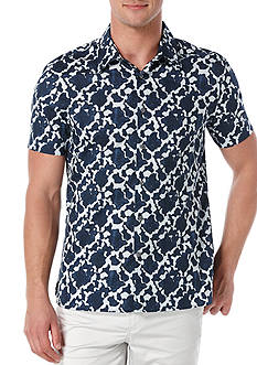 Perry Ellis Abstract Woven Shirt