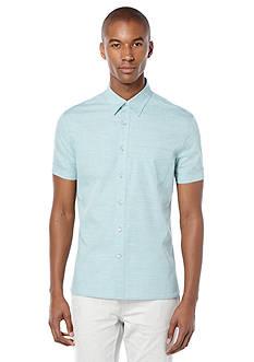 Perry Ellis Stripe Texture Chest Pocket Shirt