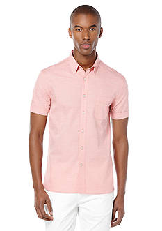 Perry Ellis Stripe Texture Chest Pocket Shirt