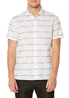 Perry Ellis Twill Striped Shirt