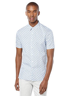 Perry Ellis Short Sleeve Geometric Print Shirt