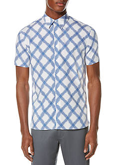 Perry Ellis Multi Color Neat Print Shirt