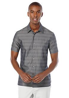 Perry Ellis Horizontal Stripe Woven Shirt