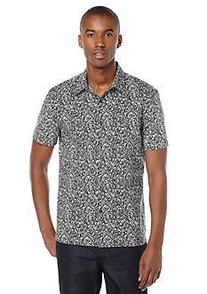 Perry Ellis Short Sleeve Rose Print Woven Shirt