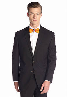 Chaps Classic Fit Black Herringbone Suit Separate Coat