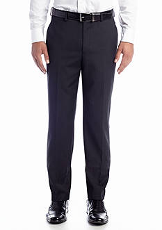 Chaps Gray Stripe Reversible Pleated Cuff Suit Separate Pants