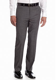 Chaps Classic Fit Flat Front Sharkskin Suit Separate Pants