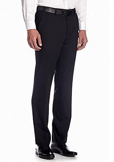 Chaps Classic Fit Black Herringbone Suit Separate Pants