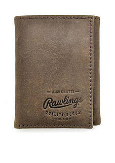 Rawlings Benton Park Vintage Leather Tri-Fold Wallet