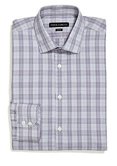 Vince Camuto Modern Fit Amethyst Plaid Spread Dress Shirt