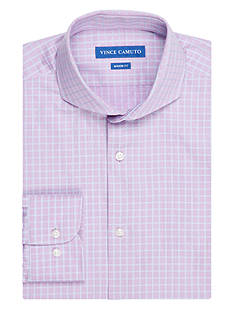Vince Camuto Men's Classic-Fit Checkerboard Dress Shirt