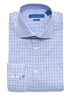 Vince Camuto Men's Modern-Fit Check Dress Shirt