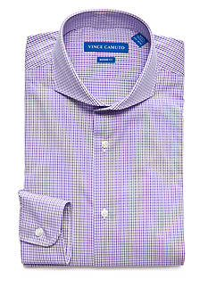 Vince Camuto Men's Modern-Fit Gingham Dress Shirt
