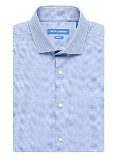 Vince Camuto Modern-Fit Dobby Diamond Dress Shirt