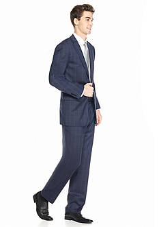 Vince Camuto Modern-Fit Windowpane 2-Piece Suit