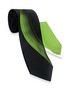 Haggar Extra Long Polyester Tie & Pocket Square