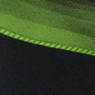 Haggar: Green Haggar Spectrum Polyester Tie & Border Pocket Square Set