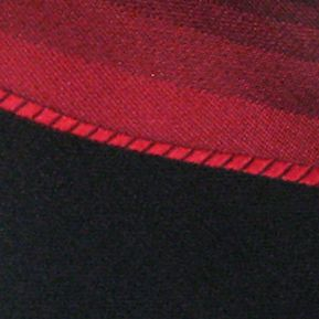 Men: Neckties Sale: Red Haggar Spectrum Polyester Tie & Border Pocket Square Set