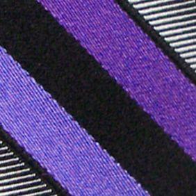 Haggar: Plum Haggar Woven Stripe Tie