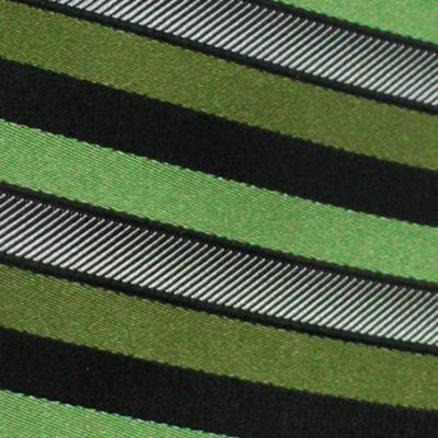 Haggar Big & Tall Sale: Green Haggar Extra Long Woven Stripe Tie