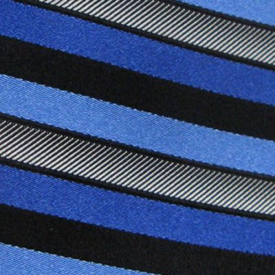 Haggar: Medium Blue Haggar Extra Long Woven Stripe Tie