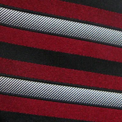 Haggar: Red Haggar Extra Long Woven Stripe Tie