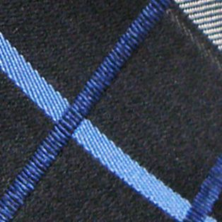 Haggar: Medium Blue Haggar Extra Long Woven Grid Tie