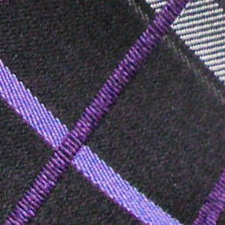 Haggar Big & Tall Sale: Plum Haggar Extra Long Woven Grid Tie