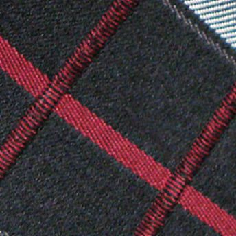 Haggar: Red Haggar Extra Long Woven Grid Tie
