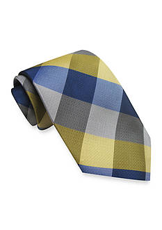 Haggar Khaki Buffalo Plaid Tie