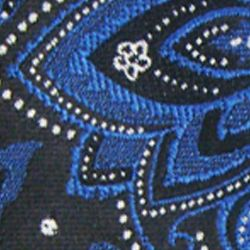 Haggar Men Sale: Black Haggar Long Paisley Neck Tie